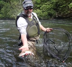 Spring fly fishing on the Nantahala River, NC