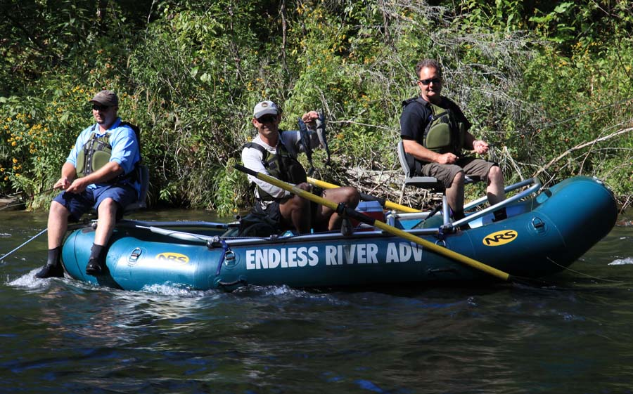 The fly line newsletter endless river adventures fly for Fly fishing raft
